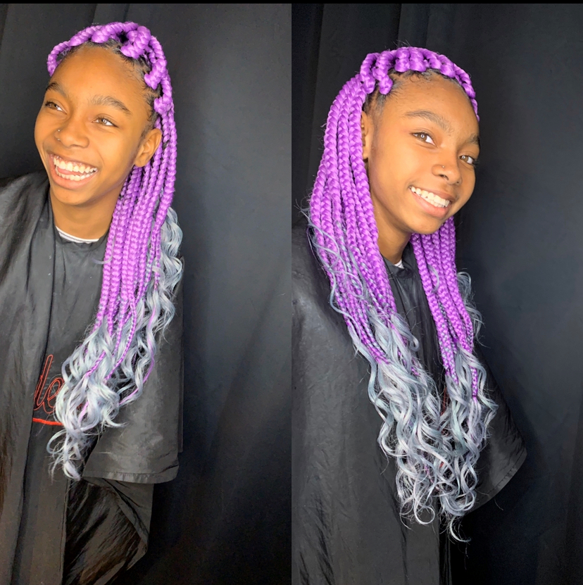 Kids large box braids