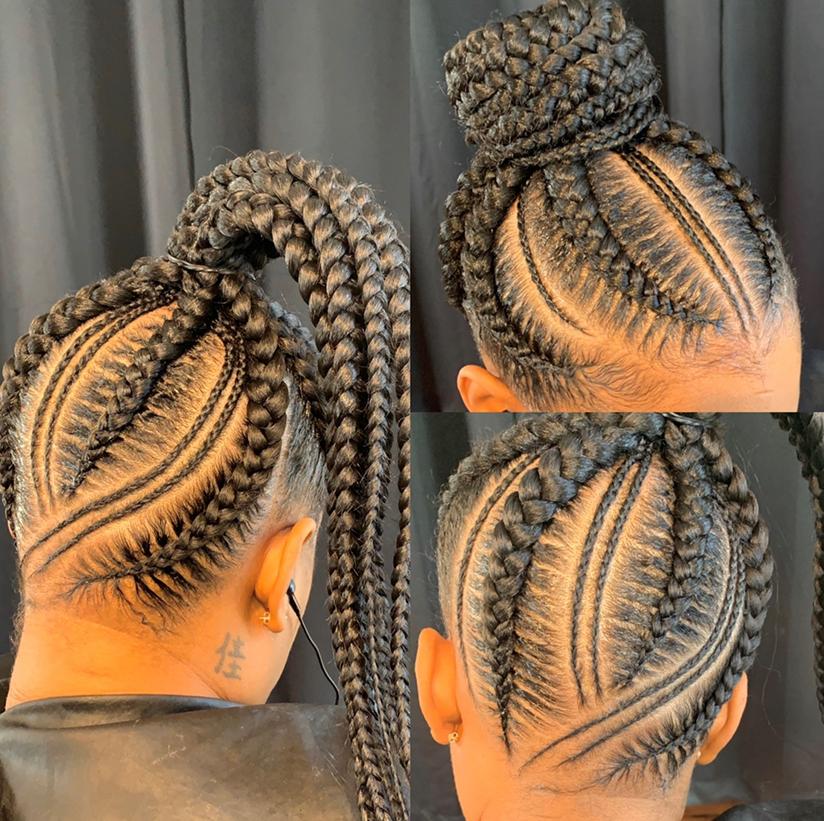 Large feedin ponytail Midback
