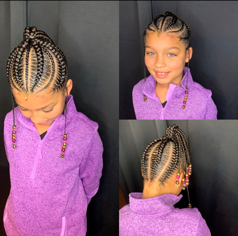 Kids large braided ponytail