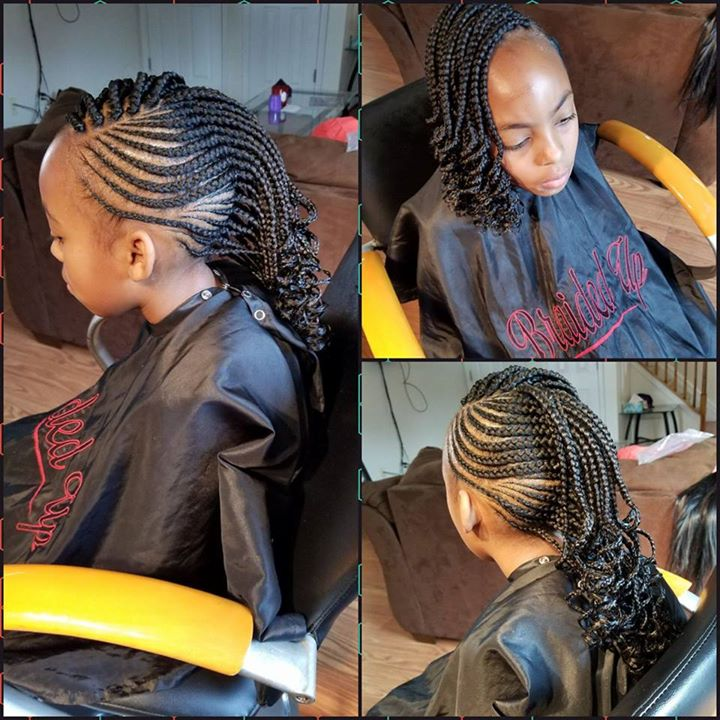 Small Mohawk and Box Braids