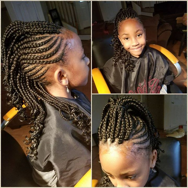 Medium mohawk and box braids