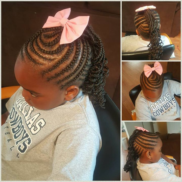 Medium Kids Braided Mohawk
