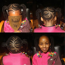 Large Kids Two Braided Ponytails