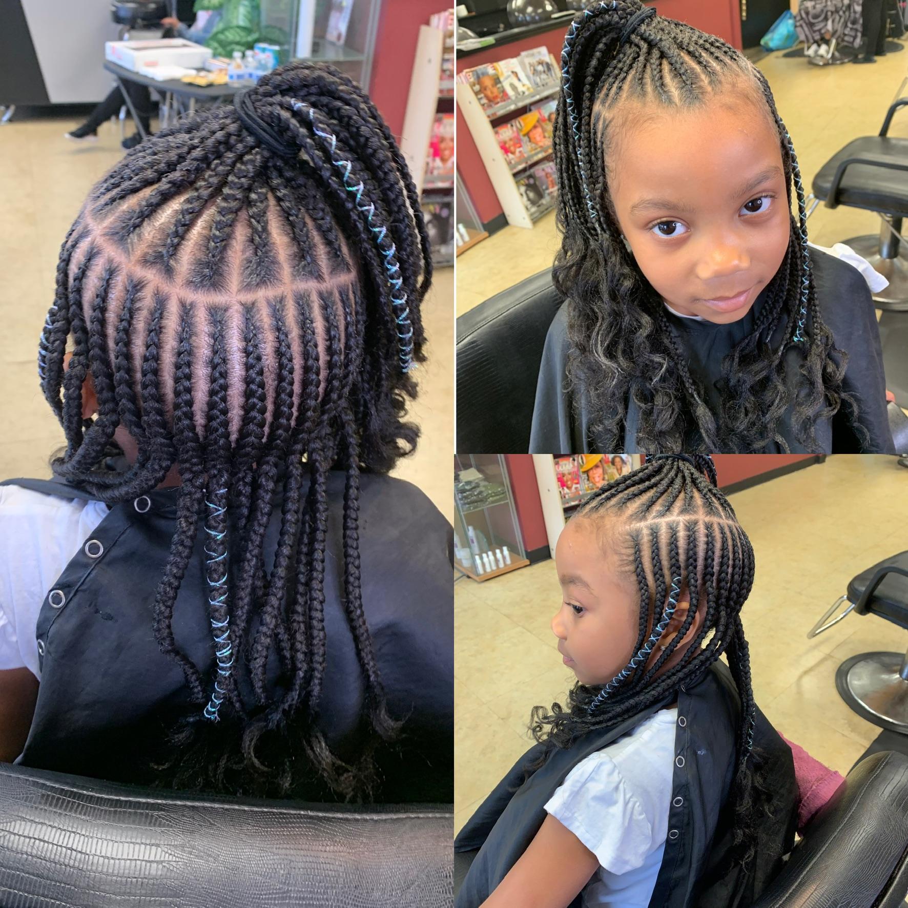 Kids medium one layer & top ponytail