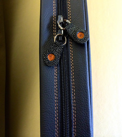 Custom Zip Tab Leather Personalizing