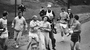 première femme américaine à courir le marathon de Boston