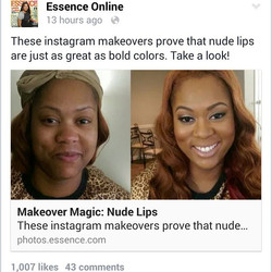 Okay! This is my last time posting about my makeup being featured on Essence online today! Sike! Goo