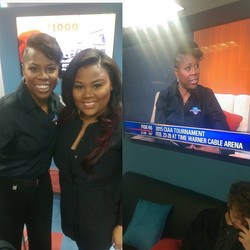 Not only did I get my first celebrity client this AM but I also got the chance to beautify the CIAA