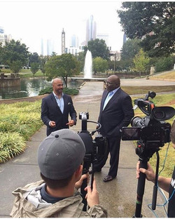 Repost _tdjakesshow_On the ground in Charlotte this afternoon interviewing the President of The Nati