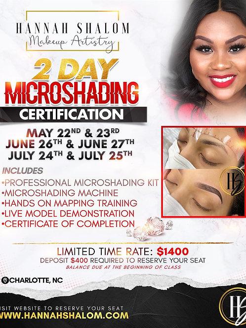 July 24th & 25th- MicroShading Class