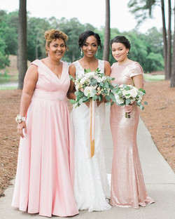 Nadia, her mother and Maid of Honor