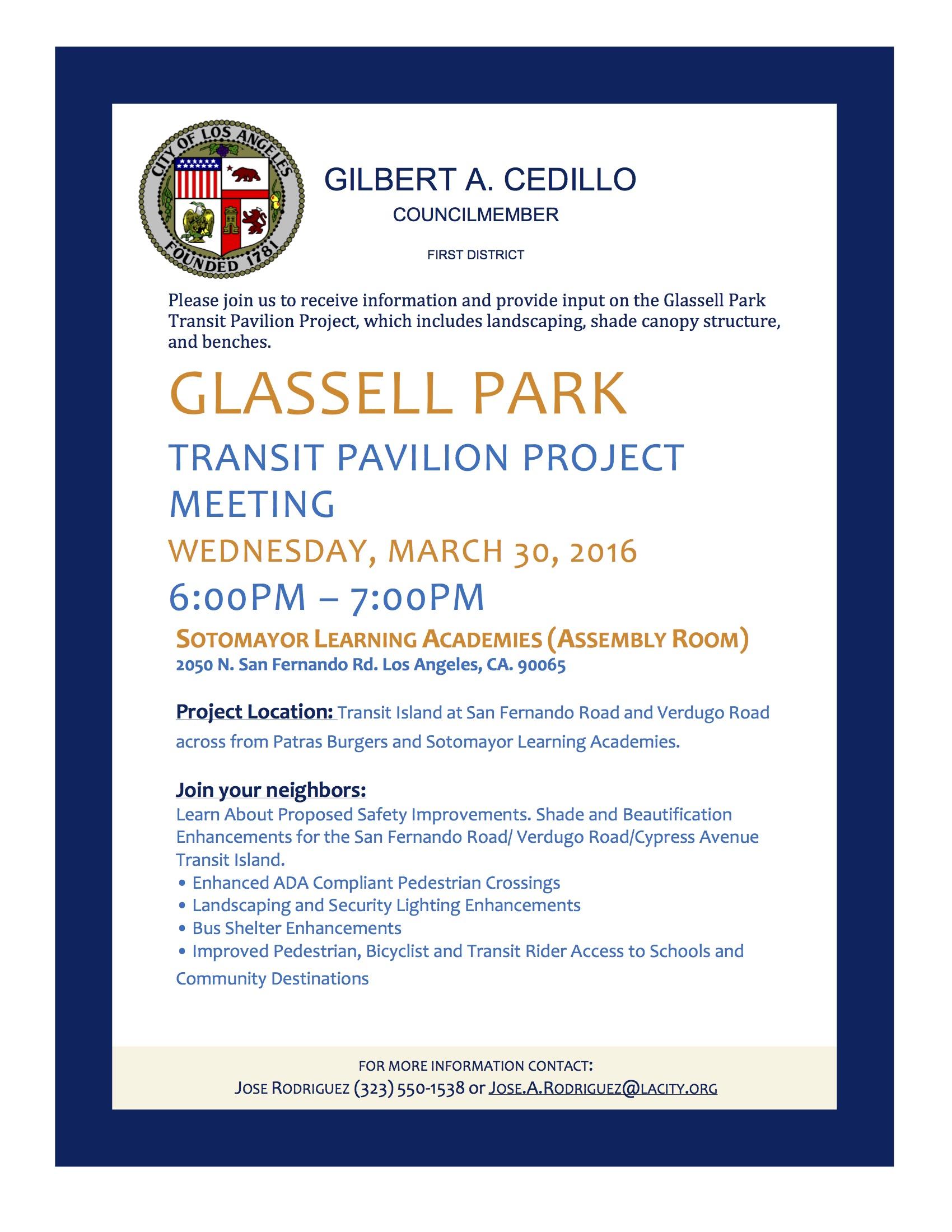 Glassell Park Transit Pavilion Project Cd1 Glassell Park