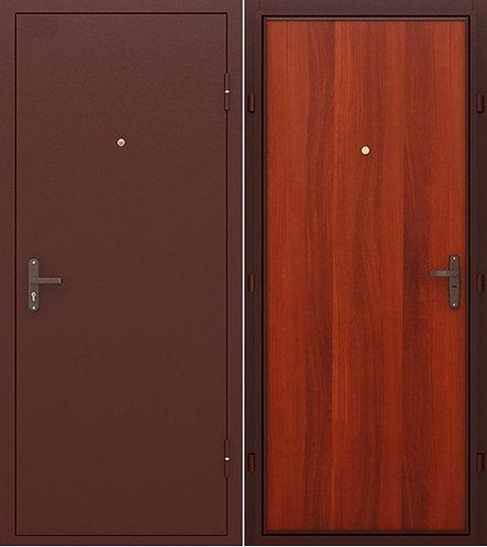 входная дверь КОНСУЛ 1 (антик медь/итальянский орех)