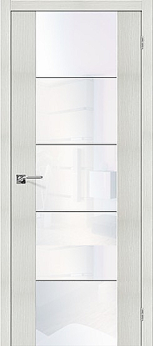 Межкомнатная дверь экошпон V4 / Bianco Veralinga