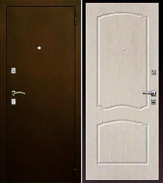 входная дверь Афина (антик медь/беленый дуб)