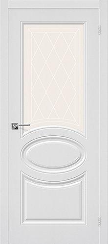 Межкомнатная дверь с покрытием ПВХ Скинни-21 / белый