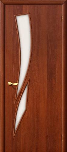 Ламинированная межкомнатная дверь Стрелица ДО / итальянский орех