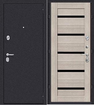 входная дверь Йошкар Ола Вектор (антик серебро темное/ларче светлый (капучино)