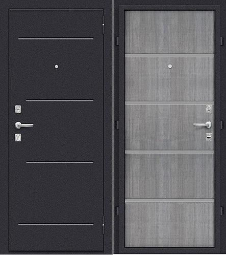 входная дверь Оптим Лайн (Лунный камень/Grey Crosscut)