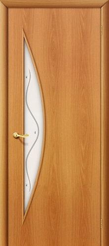 Ламинированная межкомнатная дверь Луна ДФ / миланский орех