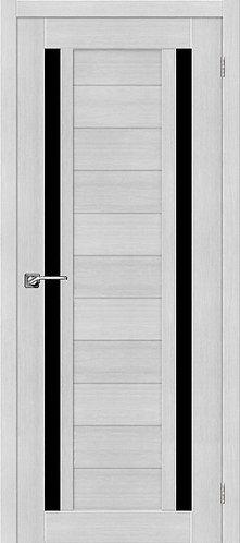 Межкомнатная дверь экошпон ST-6 Black / Bianco Veralinga