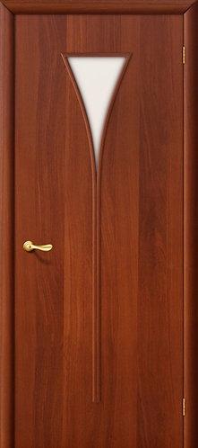 Ламинированная межкомнатная дверь Рюмка ДО / итальянский орех