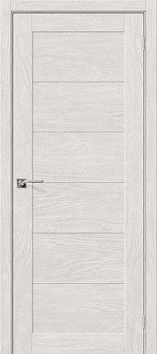 Межкомнатная дверь экошпон L-21 /Chalet Blanc