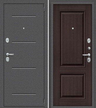 входная дверь Porta Стиль (Антик Серебро/Wenge Veralinga)