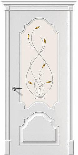 Межкомнатная дверь с покрытием ПВХ Скинни-33 / белый