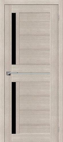 Межкомнатная дверь экошпон ST-5m Black / Cappuccino Veralinga