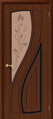 Межкомнатная дверь Лагуна ДО/ шоколад