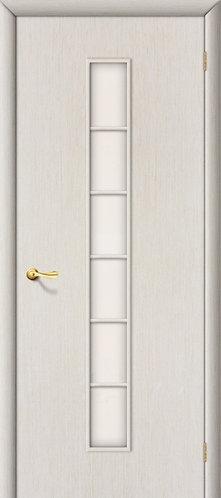 Ламинированная межкомнатная дверь Лесенка ДО / беленый дуб