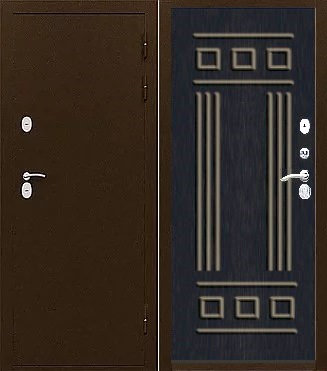 Входная стальная дверь с терморазрывом ТС-ТЕРМО РИМ каштан шоколадный (венге)