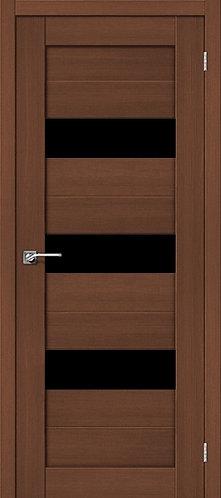 Межкомнатная дверь экошпон ST-8 Black / орех