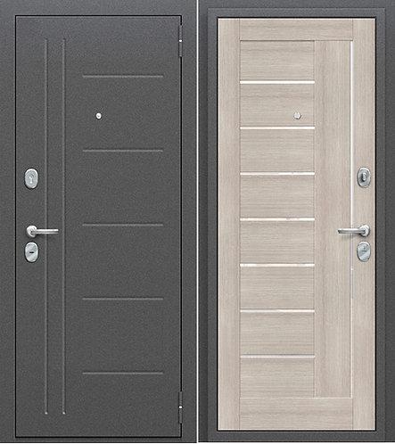 входная дверь Porta Проф (Антик Серебро/Cappuccino Veralinga)