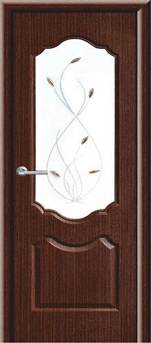 Межкомнатная дверь с покрытием ПВХ Анастасия ДО / венге