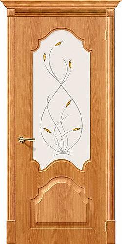 Межкомнатная дверь с покрытием ПВХ Скинни-33 / миланский орех