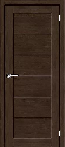 Межкомнатная дверь экошпон L-21 / Темный дуб