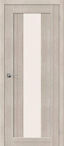 Межкомнатная дверь с покрытием 3D R-25 alu / 3D Cappuccino
