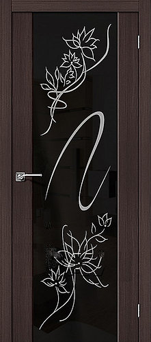 Межкомнатная дверь экошпон S-13 Stamp / Wenge Veralinga