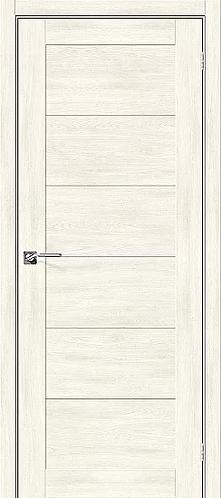 Межкомнатная дверь экошпон L-21 /Nordic Oak