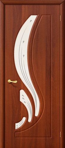 Межкомнатная дверь с покрытием ПВХ Лотос ДО / итальянский орех