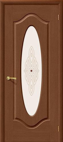 Межкомнатная дверь Аура ДО/ орех