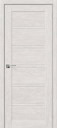 Межкомнатная дверь экошпон L-28 / Chalet Blanc