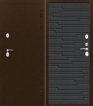 Входная дверь с терморазрывом ТС-ТЕРМО ГОТЛАНД каштан шоколадный (венге)