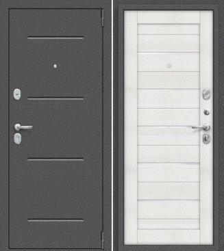 входная дверь Porta Техно (Антик Серебро/Bianco Veralinga)