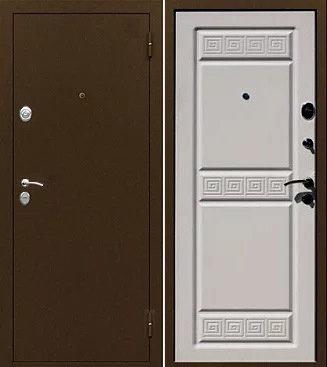 """входная дверь Йошкар Ола ТРОЯ (антик медь/ларче светлый """"капучино"""")"""