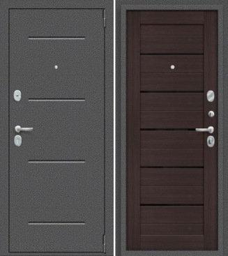 входная дверь Porta Техно (Антик Серебро/Wenge Veralinga)