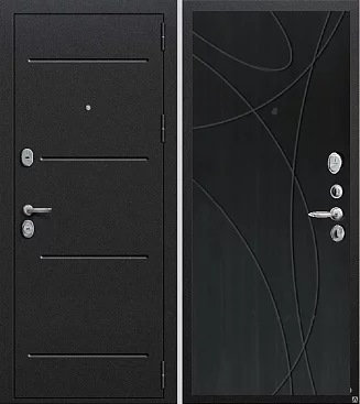 входная дверь Муссон (антик серебро темное/венге)