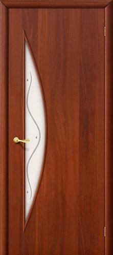 Ламинированная межкомнатная дверь Луна ДФ / итальянский орех
